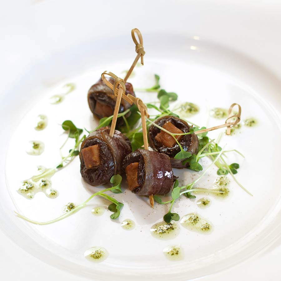 Dattes fourrées au foie gras