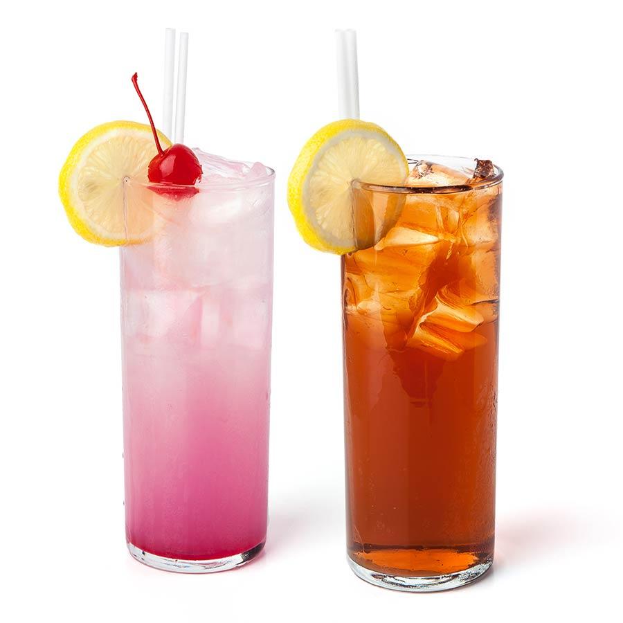 Limonade et thé glacé